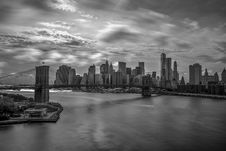 Free Grayscale Photography Of City Buildings And Bridge Stock Photos - 109915063