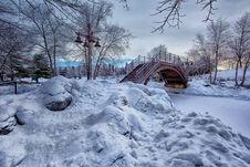Free Photo Of Bridge With White Snow Stock Images - 109915324