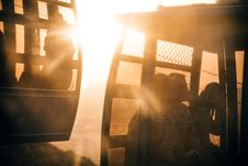 Free People Riding Cable Carts During Sunset Stock Photography - 109915372