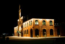 Free Brown Brick Building With Lights During Night Time Stock Photos - 109915543