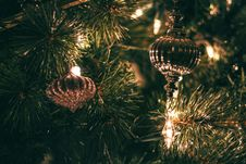 Free Selective Focus Photography Of Christmas Baubles With String Lights Royalty Free Stock Photography - 109915707