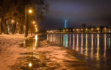 Free Photography Of Street Light On Seashore Stock Photography - 109915832