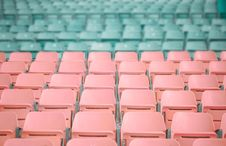 Free Pink And Blue Stadium Chairs Royalty Free Stock Photo - 109915875