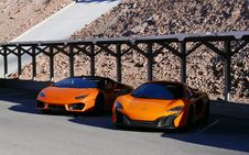 Free Photography Of Two Orange Sports Car Royalty Free Stock Image - 109915886