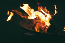 Free Closed Up Photo Of Flames Stock Images - 109915954