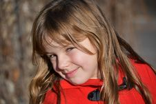 Free Blonde Girl Wearing Red Toggle Jacke Stock Photo - 109916180