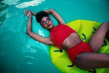 Free Women S Red Sleeveless Top Bikini Stock Photos - 109916623