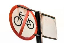 Free No Bicycles Allowed Signage Stock Images - 109916644