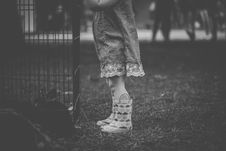 Free Monochrome Photography Of Children Wearing Boots Royalty Free Stock Photos - 109916878