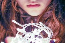 Free Woman Holding String Light Royalty Free Stock Image - 109916886