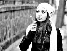 Free Grayscale Photography Of Woman Smoking Royalty Free Stock Photography - 109916987