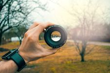 Free Photography Of Person Holding Black Camera Lens Royalty Free Stock Photos - 109917098