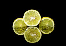 Free Three Sliced Lemons Royalty Free Stock Images - 109917099