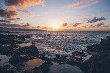 Free Scenic View Of Ocean During Sunset Royalty Free Stock Photos - 109917118