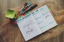 Free Photo Of Planner And Writing Materials Royalty Free Stock Photography - 109917147