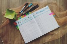 Free Photo Of Planner And Writing Materials Stock Image - 109917241