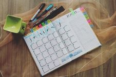 Free Photo Of Planner And Writing Materials Royalty Free Stock Photos - 109917378