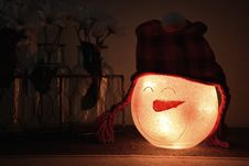 Free Shallow Focus Photography Of White Led Snowman Lamp Royalty Free Stock Image - 109917526