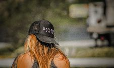 Free Women S Black Savage Baseball Cap Stock Photography - 109917752