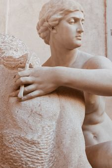 Free Naked Man Statue Stock Photography - 109918512