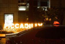 Free White Car Beside Led Light Stock Photos - 109918703