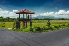 Free Landscape Photo Of Farm With Gazebo On Corner Stock Images - 109918794