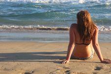 Free Woman Wearing Black 2-piece Bikini Royalty Free Stock Images - 109918839
