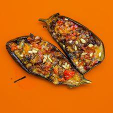 Free Brown Slice Eggplants Stock Photos - 109919303
