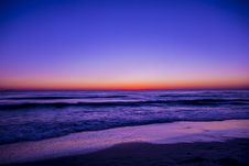 Free Scenic View Of Ocean During Dawn Stock Image - 109919681