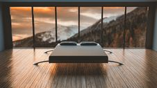 Free White And Black Mattress Fronting The Mountain Royalty Free Stock Image - 109920016