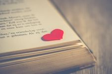 Free Photography Of Red Heart On Book Page Stock Image - 109920031