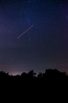 Free Shooting Star During Nighttime Royalty Free Stock Photography - 109920037