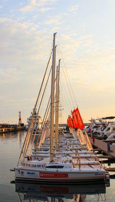 Free White Yachts Stock Image - 109920241