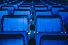 Free Blue Plastic Chairs Stock Photos - 109920243