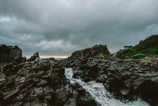 Free Rocky River Under Cloudy Sky Stock Image - 109920301