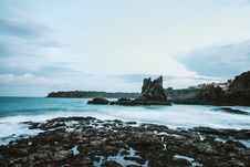 Free Photo Of Seashore With Rocks During Daylight Royalty Free Stock Image - 109920406