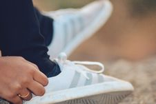 Free Close-Up Photography Of Adidas Shoe Royalty Free Stock Image - 109920786