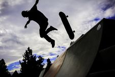 Free Silhouette Photo Of Person Doing Skateboard Royalty Free Stock Photo - 109920805