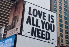 Free Love Is All You Need Signage Stock Images - 109920994