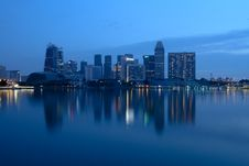 Free City Buildings Beside Body Of Water During Night Time Royalty Free Stock Photos - 109921098