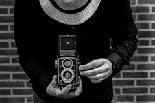 Free Photo Of Person Holding Vintage Camera Stock Image - 109921271