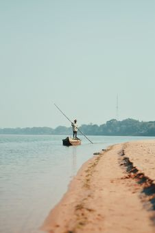 Free Fisherman On Boat Stock Images - 109921594