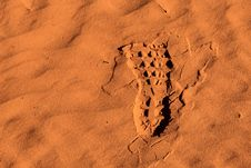 Free Photo Of Right Footprint On Sand Royalty Free Stock Photo - 109921615