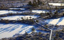 Free Aerial Photography Of Frozen Lakes Surrounded By Trees Stock Images - 109921704