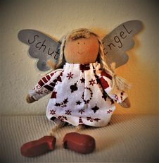Free Brown And White Angel Doll Stock Image - 109921771