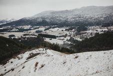 Free Snow City Skyline Royalty Free Stock Image - 109921826