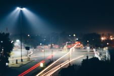 Free Time Lapse Photo Of Road With Red And Yellow Lights Stock Images - 109922804