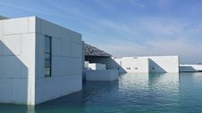 Free White Building Surrounded With Water Stock Image - 109922821