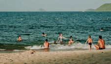 Free Photography Of People Swimming In The Beach Stock Photography - 109923032