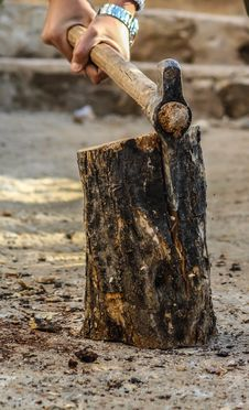Free Photography Of A Person Chopping Wood Stock Photos - 109923153
